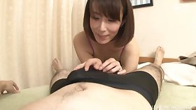 Gentle fucking on the fringe with hot ass Japanese piece of baggage Sawamura Reiko
