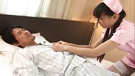 Japanese nurse Riku Shiina enjoys riding her lucky patient