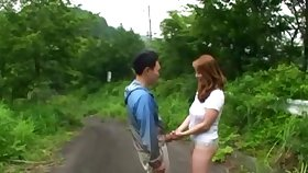 Outdoor dicking in the park respecting a Japanese amateur couple