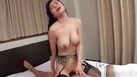 Miu Watanabegoes nasty on two cocks down triumvirate porn